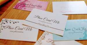 The Definitive Guide To Wedding Place Cards   Place Card Me throughout Fold Over Place Card Template