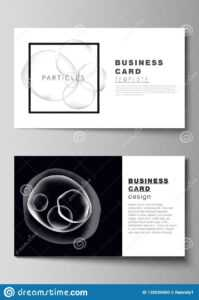 The Minimalistic Editable Vector Layout Of Two Creative for Medical Business Cards Templates Free