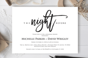 The Night Before Wedding Rehearsal Dinner Invitation Card intended for Frequent Diner Card Template