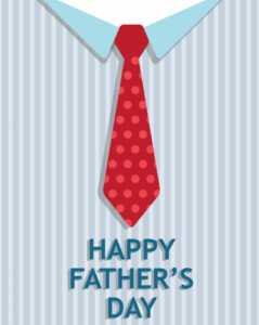 Tie Father's Day Card (Quarter-Fold) regarding Blank Quarter Fold Card Template