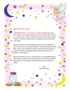 Tooth Fairy Letter Template Examples within Tooth Fairy Certificate Template Free