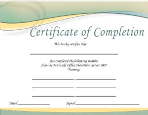 Training-Certificate-Template-Printable-Microsoft-Office-Doc throughout Free Certificate Templates For Word 2007