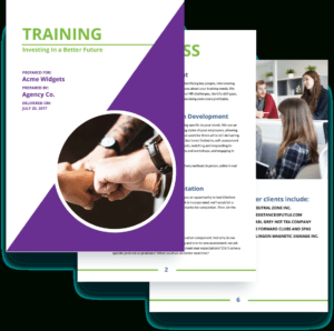 Training Proposal Template – Free Sample | Proposify regarding Training Brochure Template