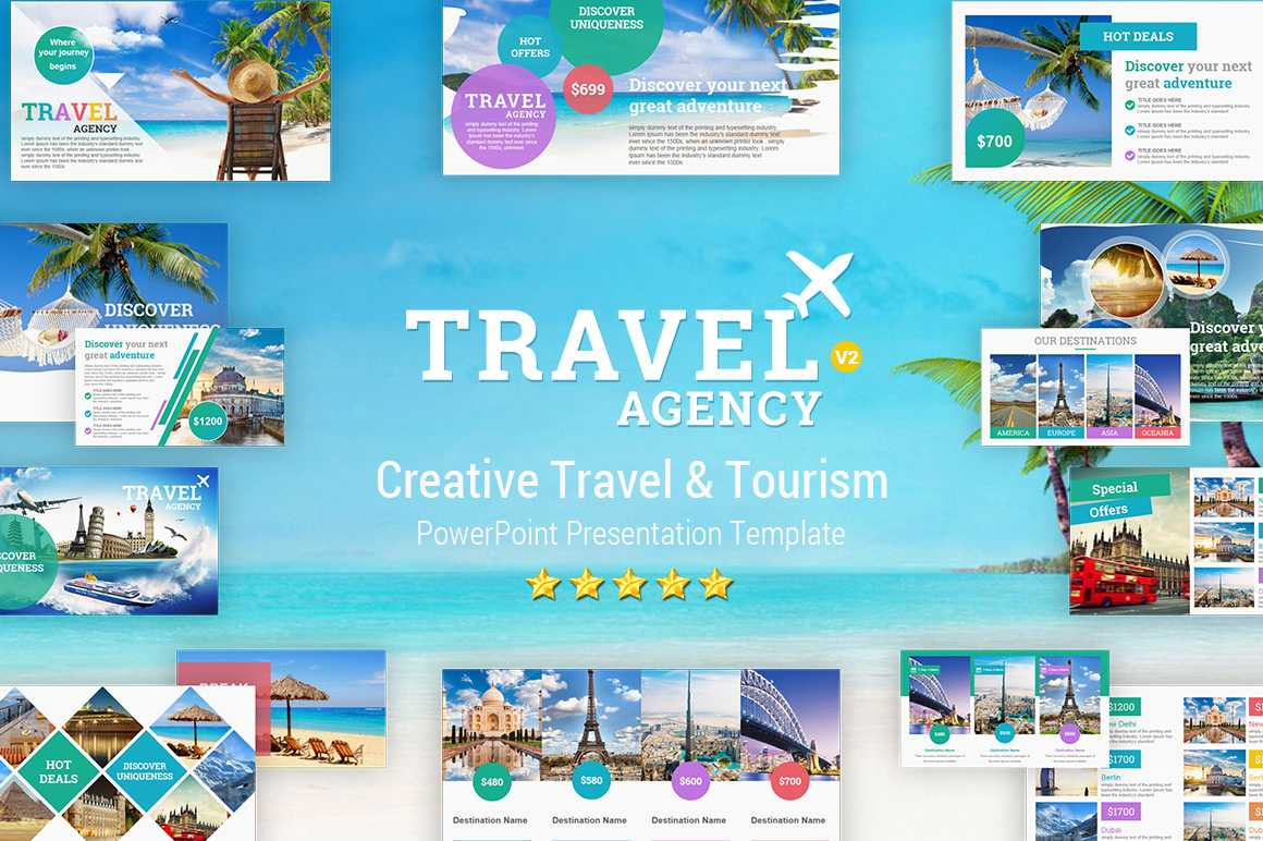 Travel And Tourism Powerpoint Presentation Template - Yekpix With Tourism Powerpoint Template