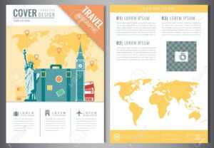 Travel Brochure Design Template. Travel And Tourism Concept pertaining to Travel Guide Brochure Template