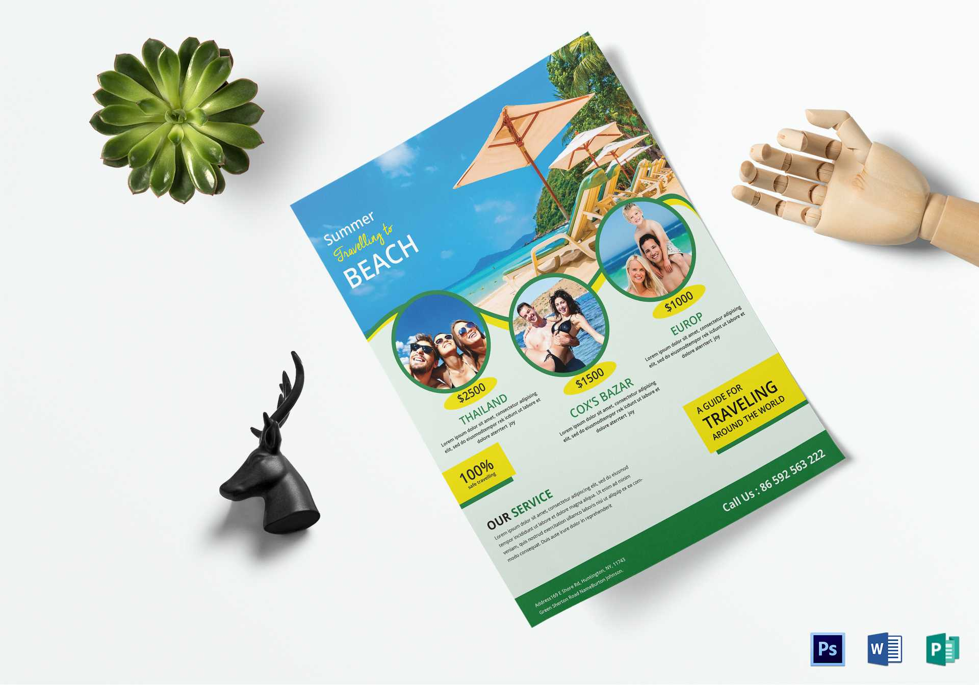 Travel Brochure Design - Tourism Company And Tourism With Word Travel Brochure Template