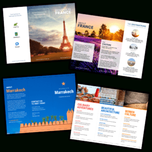 Travel Brochure Templates – Make A Travel Brochure – Venngage with regard to Travel Guide Brochure Template