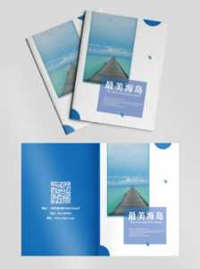 Travel Cover Island Blue Template For Free Download On Pngtree inside Island Brochure Template