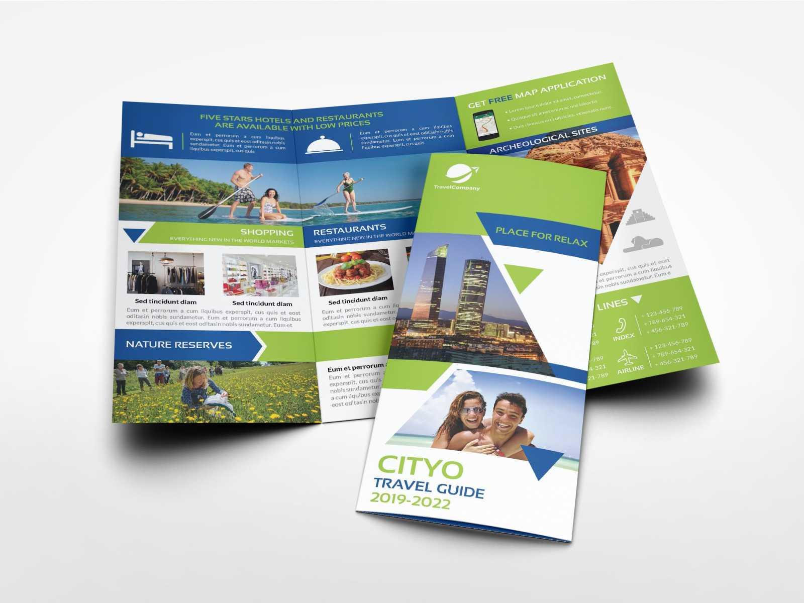 Travel Guide Tri Fold Brochure Templateowpictures On Regarding Travel Guide Brochure Template