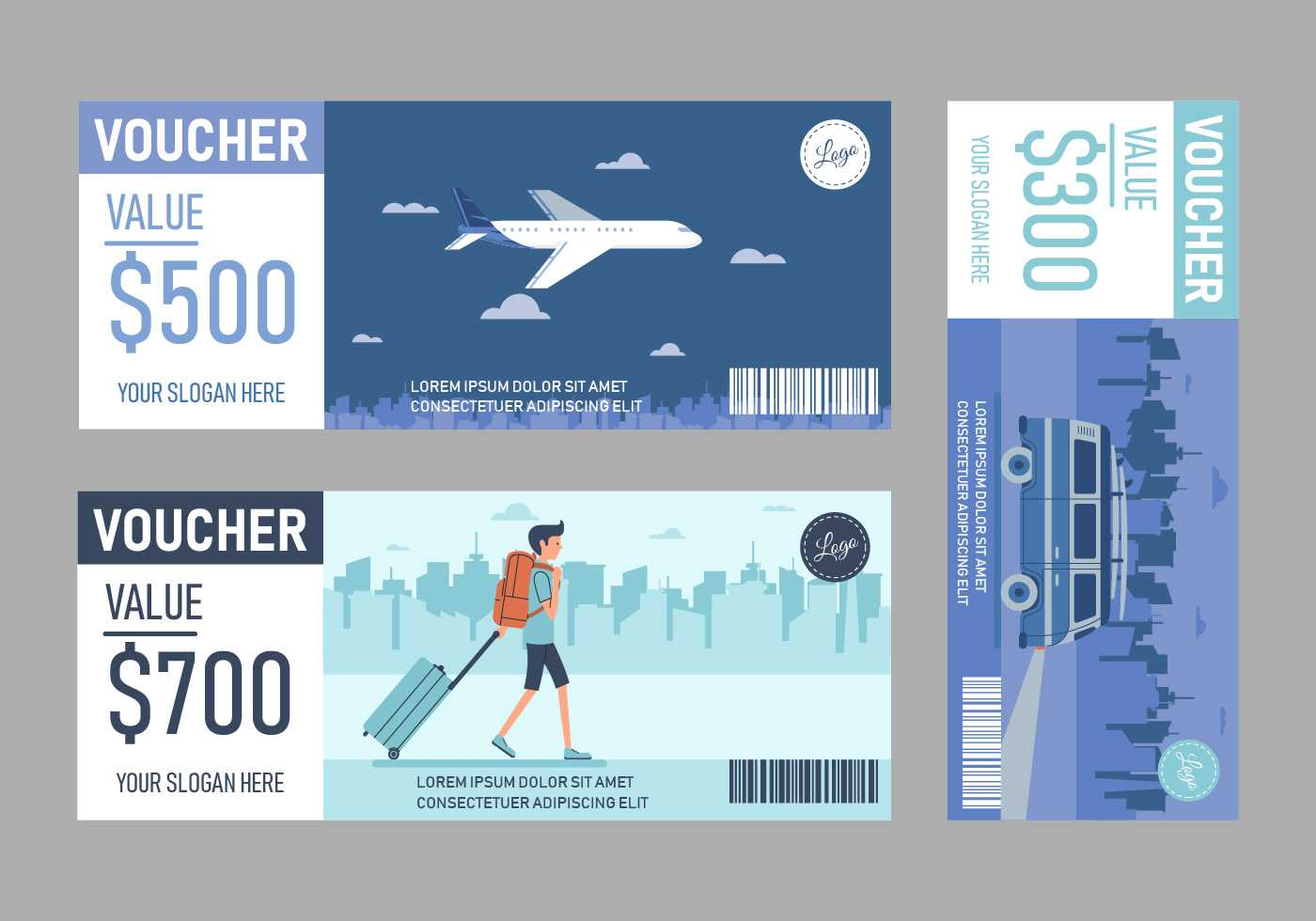 Travel Voucher Free Vector Art - (35 Free Downloads) For Free Travel Gift Certificate Template