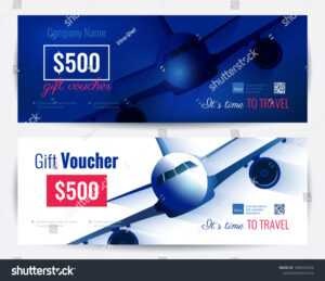 Travel Voucher Template Images, Stock Photos & Vectors intended for Free Travel Gift Certificate Template