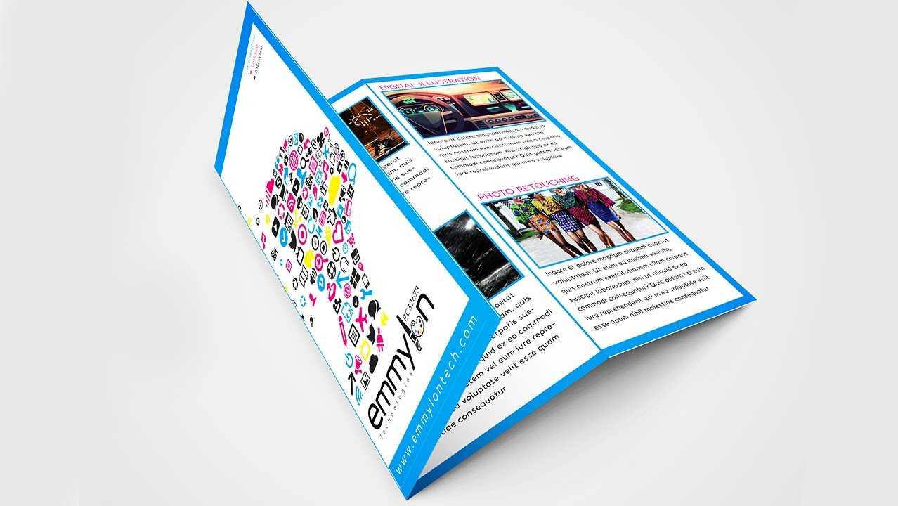 Tri Fold Brochure Design Layout   Adobe Illustrator (#speedart) Pertaining To Adobe Illustrator Tri Fold Brochure Template