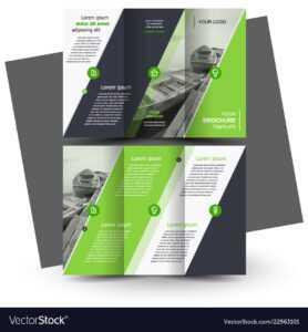 Tri-Fold Brochure Design Template Green throughout Adobe Illustrator Tri Fold Brochure Template