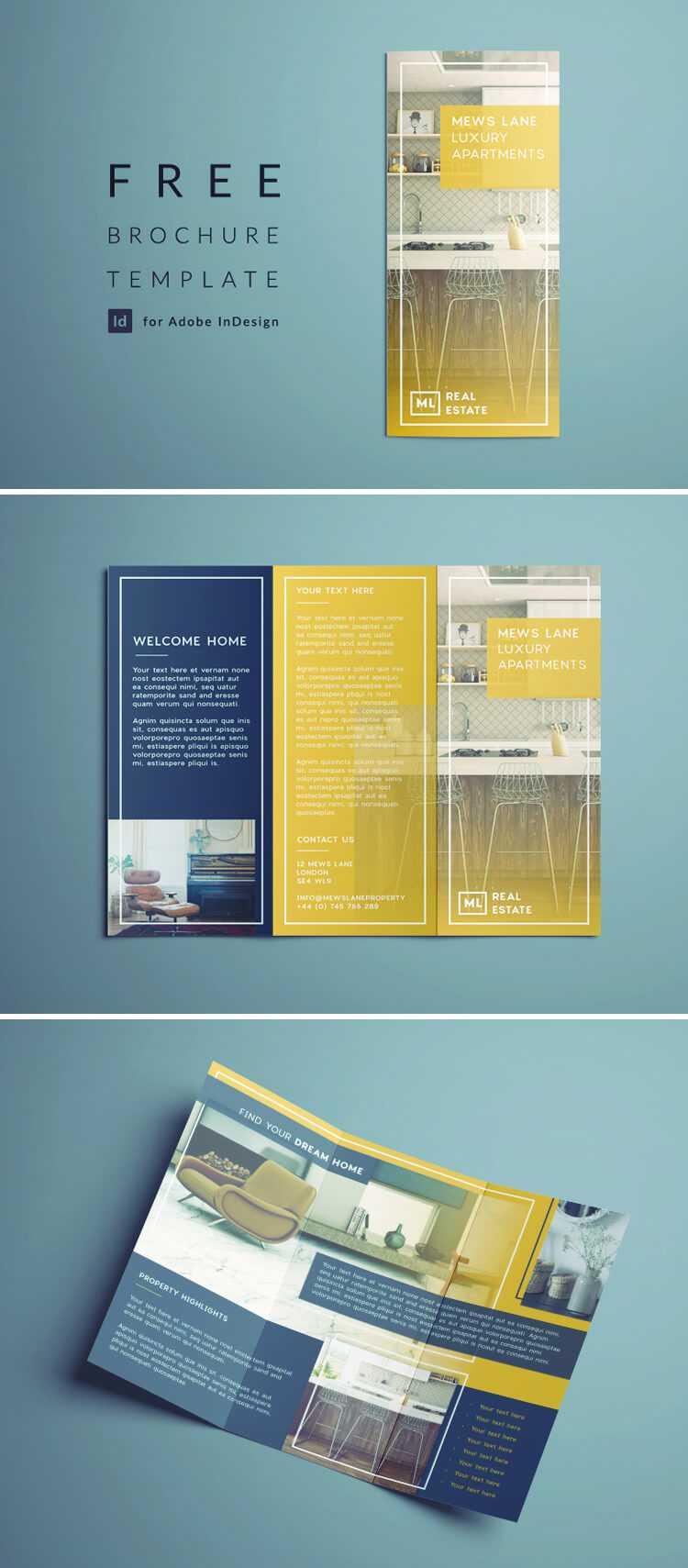 Tri Fold Brochure | Free Indesign Template Intended For Z Fold Brochure Template Indesign