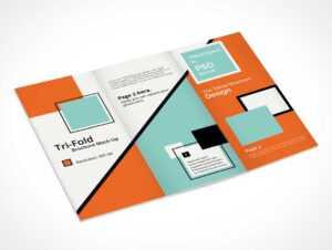 Tri Fold Brochure Psd Mockup A4 Design – Psd Mockups pertaining to Brochure 3 Fold Template Psd