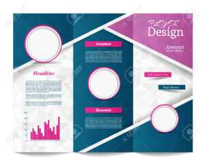 Tri-Fold Brochure Template.corporate Business Background Or Cover.. pertaining to Tri Fold Brochure Publisher Template
