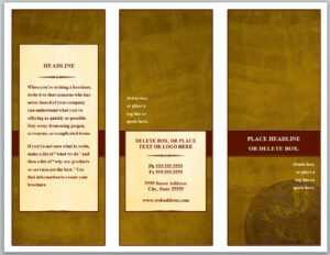 Tri Fold Brochure Template within Microsoft Word Brochure Template Free