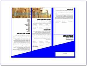 Tri Fold Brochure Templates Free   Marseillevitrollesrugby for Free Church Brochure Templates For Microsoft Word