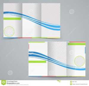 Tri-Fold Business Brochure Template Stock Vector for 6 Sided Brochure Template