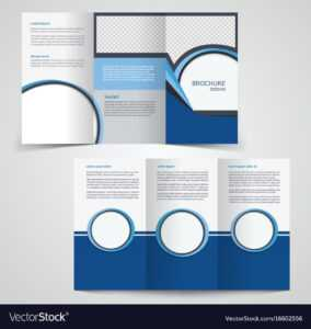 Tri-Fold Business Brochure Template Two-Sided in Double Sided Tri Fold Brochure Template