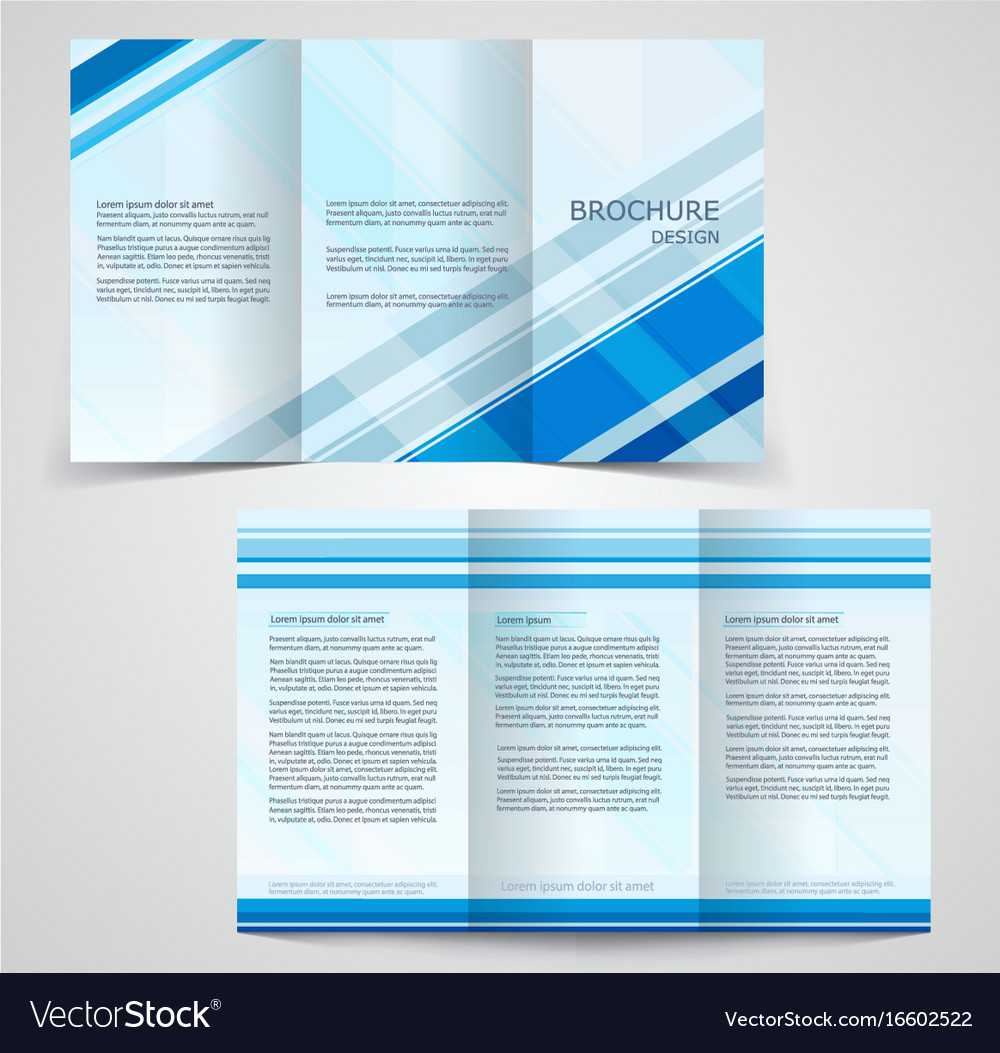 Tri Fold Business Brochure Template Two Sided Intended For Double Sided Tri Fold Brochure Template