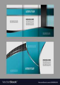 Tri-Fold Business Brochure Template Two-Sided Tem in Double Sided Tri Fold Brochure Template