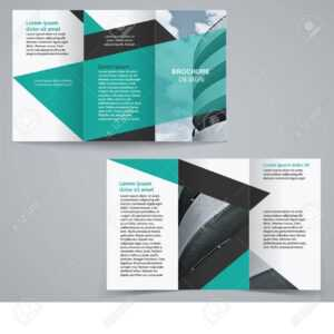 Tri-Fold Business Brochure Template, Two-Sided Template Design.. intended for Free Tri Fold Business Brochure Templates