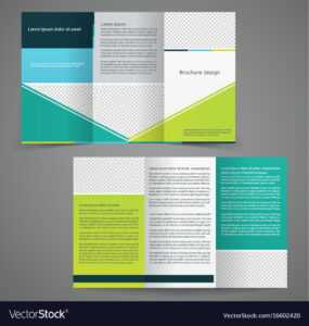 Tri-Fold Business Brochure Template Two-Sided with Double Sided Tri Fold Brochure Template