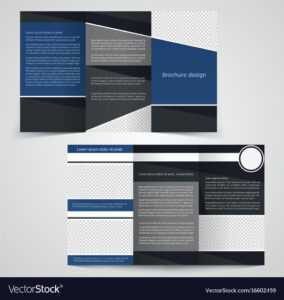 Tri-Fold Business Brochure Template Two-Sided within Double Sided Tri Fold Brochure Template