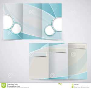 Tri-Fold Business Brochure Template, Vector Blue D Stock intended for Free Illustrator Brochure Templates Download