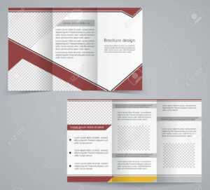Tri-Fold Business Brochure Template, Vector Brown Design Flyer throughout Free Tri Fold Business Brochure Templates