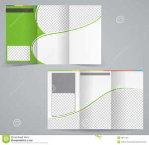 Tri-Fold Business Brochure Template, Vector Green Stock intended for Brochure Template Illustrator Free Download