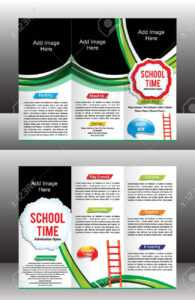 Tri Fold School Brochure Template Vector Illustration within Tri Fold School Brochure Template