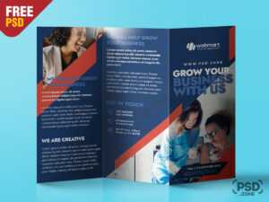 Trifold Brochure Design Psd Template – Uxfree for Brochure Psd Template 3 Fold