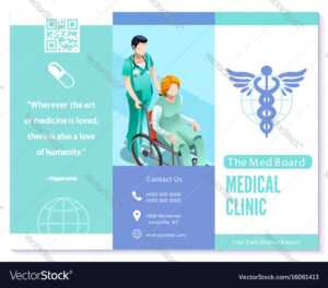 Trifold Brochure Medical Clinic Blue Basic regarding Medical Office Brochure Templates