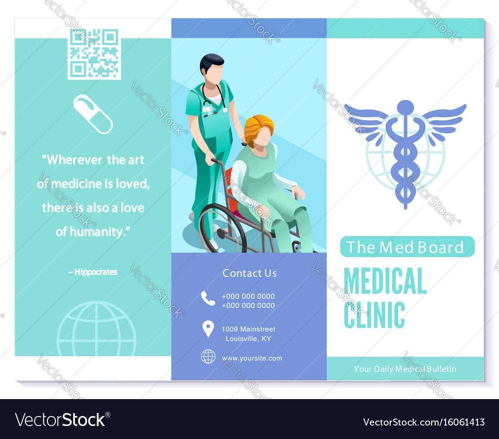Trifold Brochure Medical Clinic Blue Basic Regarding Medical Office Brochure Templates