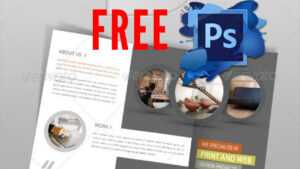 Trifold Brochure – Photoshop Template (Psd) – Youtube intended for 3 Fold Brochure Template Psd