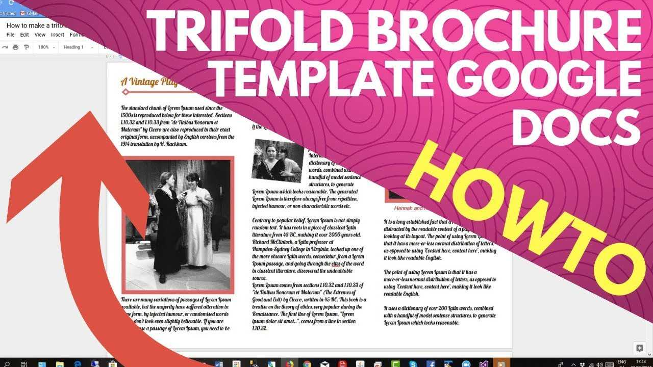 Trifold Brochure Template Google Docs Intended For Google Docs Travel Brochure Template
