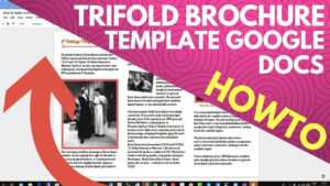 Trifold Brochure Template Google Docs with Brochure Template For Google Docs