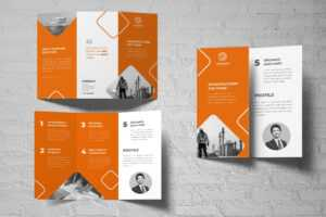 Trifold Brochure – Town Construction inside Adobe Indesign Tri Fold Brochure Template