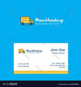 Truck Logo Design With Business Card Template with regard to Transport Business Cards Templates Free