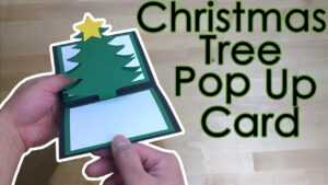 [Tutorial + Template] *free* Christmas Star Tree Pop Up Greeting Card regarding Pop Up Tree Card Template