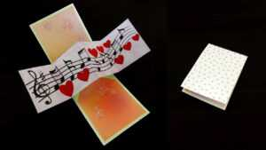 Twist And Pop Music Card – Pop Up Cardtemplate – Ezycraft intended for Twisting Hearts Pop Up Card Template
