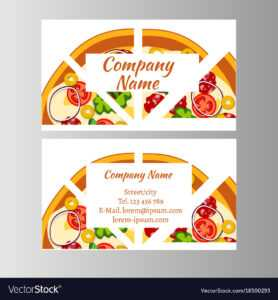 Two Business Card Template For Pizza Delivery throughout Frequent Diner Card Template