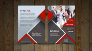 Two Fold Brochure Design | In Photoshop Cc Tutorial | Red And Gray inside 2 Fold Brochure Template Psd
