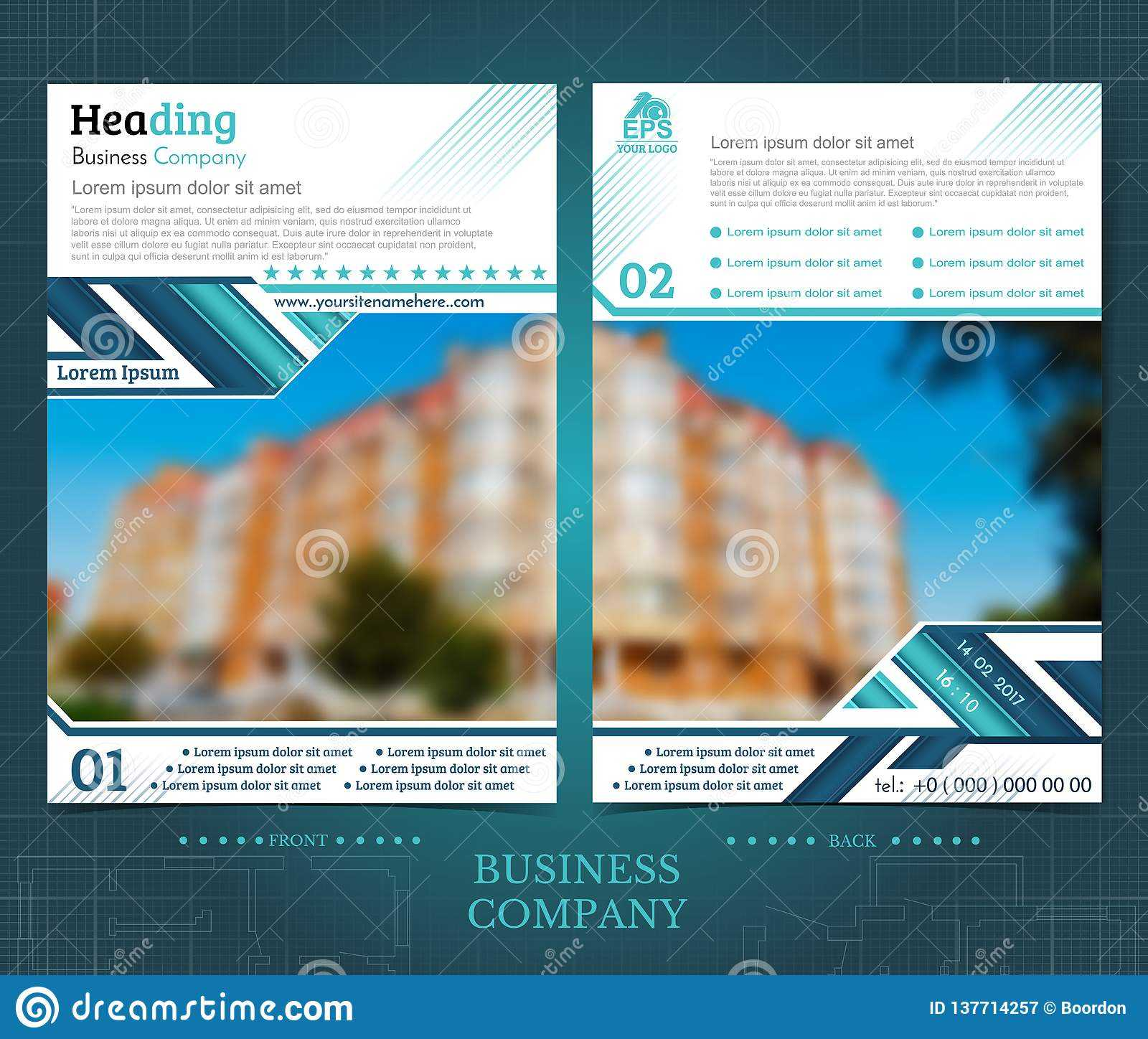 Two Sided Brochure Or Flayer Template Design With One Throughout One Sided Brochure Template