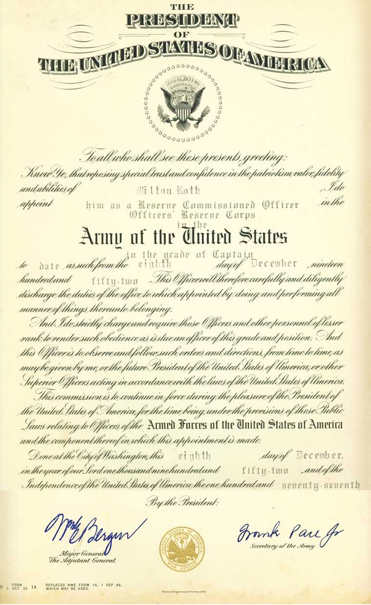 U.s.army Officer Promotion Certificate Intended For Officer Promotion Certificate Template