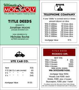 Ultimate Monopoly Title Deeds (Printable)Jonizaak On with regard to Monopoly Property Card Template