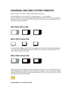Universal Sim Card Cutting Template | Templates At in Sim Card Cutter Template