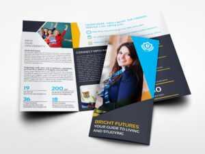 University College Tri Fold Brochure Templateowpictures within Tri Fold School Brochure Template